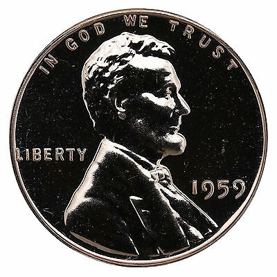 1959 Lincoln Memorial Cent Penny Gem Proof Mint Coin No Mint Mark Uncirculated