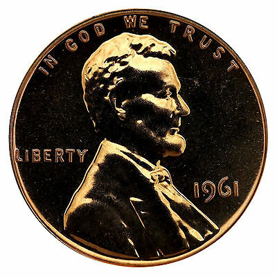 1961 Lincoln Memorial Cent Penny Gem Proof Mint Coin No Mint Mark Uncirculated