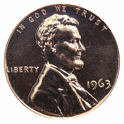 1963 Lincoln Memorial Cent Penny Gem Proof Mint Coin No Mint Mark Uncirculated