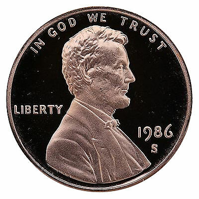 1986-S Lincoln Memorial Cent Penny Gem Proof US Mint Coin Uncirculated UNC