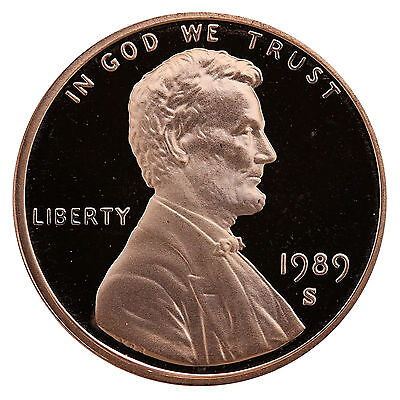 1989-S Lincoln Memorial Cent Penny Gem Proof US Mint Coin Uncirculated UNC