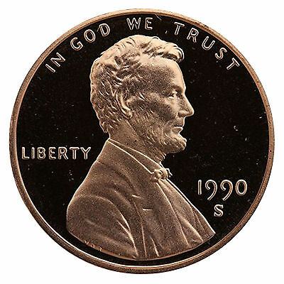 1990-S Lincoln Memorial Cent Penny Gem Proof US Mint Coin Uncirculated UNC