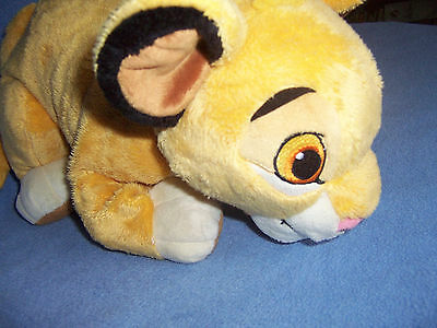 "Stuffed soft PLUSH Lion King SIMBA 14"" Disney toy cuddly genuine foot patch"