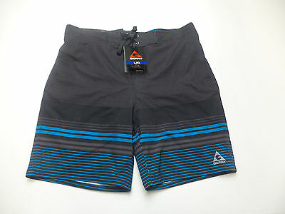 349e84e8b7 Gerry Men's Swim Shorts Black Race Stripe US Size XXL NWT