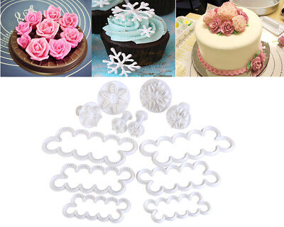 54pcs Cake Decorating Fondant Sugarcraft Icing Plunger Cutters Tools Mold Mould