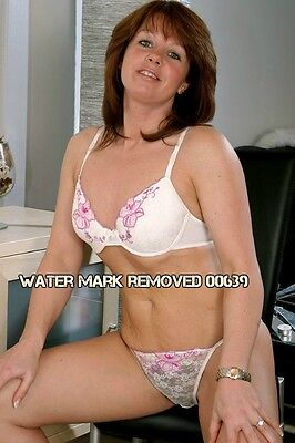 Amateur Wife Legs Spread In Bra And Panties Panties 4x6 Glossy Photo Picture