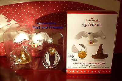 2016 Hallmark Ornament Harry Potter A Harry Potter Collection Set Of 3 Mini Orn