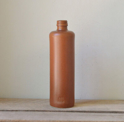 Vintage Tall Stoneware Brown Bottle