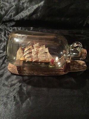 ANTIQUE SHIP IN A BOTTLE Made In The Early 20Th Century