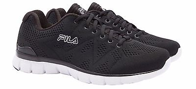 NEW Fila Men's BLACK Memory Refractive Athletic Running Shoes - PICK SIZE