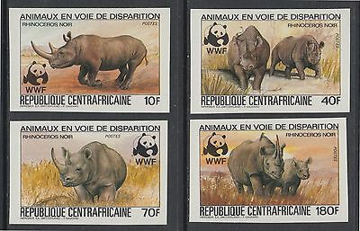 XG-BA040 CENTRAL AFRICAN - Wwf, 1983 Wild Animals, 4 Values Imperf. MNH Set