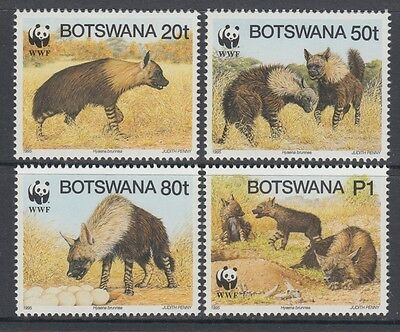 XG-BA145 BOTSWANA - Wwf, 1995 Wild Animals, Brown Hyena MNH Set