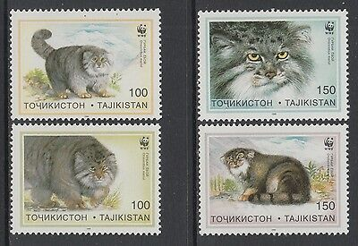 XG-BA154 TAJIKISTAN - Wwf, 1996 Pallas'S Cat, 4 Values MNH Set