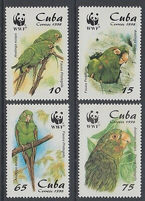 XG-BA225 HAVANA - Wwf, 1998 Nature, Birds, Parakeet MNH Set