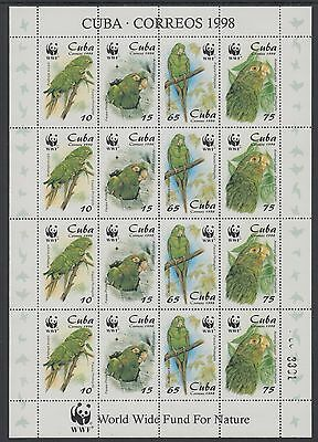 XG-BA227 HAVANA - Wwf, 1998 Nature, Birds, Parakeet MNH Sheet