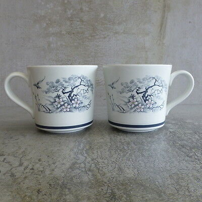 2  Royal Doulton Asian Dawn Tea Cups Lambethware Tableware 1979-1984 England