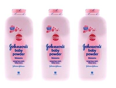 3 x Johnsons Baby Powder Pink Blossom 100g / 3.3 oz Each