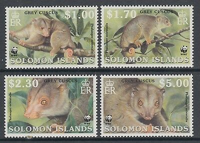 XG-BA303 SOLOMON ISLANDS IND - Wwf, 2002 Wild Animals, Grey Cuscus MNH Set