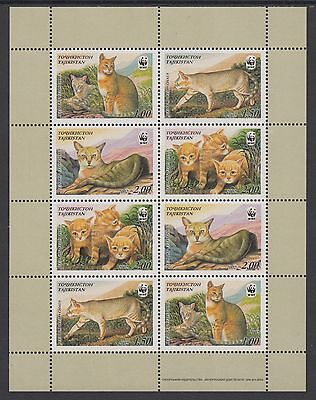 XG-BA304 TAJIKISTAN - Wwf, 2002 Wild Animals, Reed Cat, Felines MNH Sheet