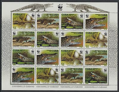 XG-BA336 HAVANA - Wwf, 2003 Wild Animals, Crocodiles MNH Sheet