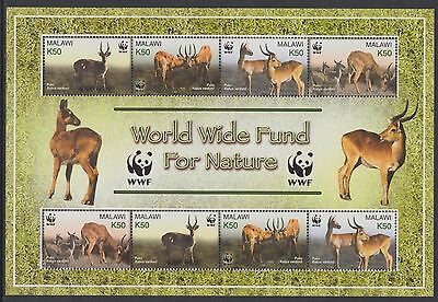 XG-BA340 MALAWI - Wwf, 2003 Wild Animals, Puku, 2 Sets MNH Sheet