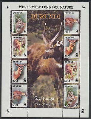 XG-BA378 BURUNDI - Wwf, 2004 Wild Animals, Sitatunga, 2 Sets MNH Sheet