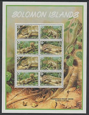 XG-BA417 SOLOMON ISLANDS IND - Wwf, 2005 Wild Animals, Reptils, Skink MNH Sheet