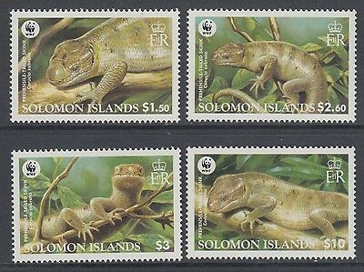 XG-BA418 SOLOMON ISLANDS IND - Wwf, 2005 Wild Animals, Reptils, Skink MNH Set