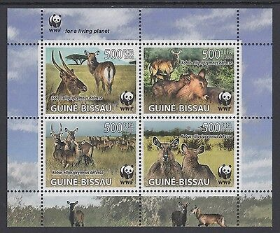 XG-BA492 GUINEA-BISSAU - Wwf, 2008 Wild Animals, Waterbuck MNH Sheet