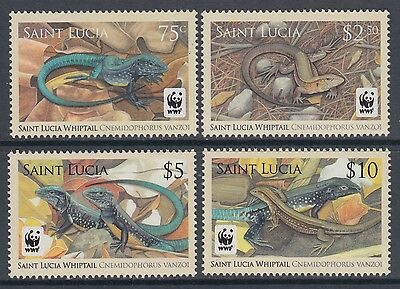 XG-BA501 ST LUCIA IND - Wwf, 2008 Reptils, Whiptail Lizard MNH Set