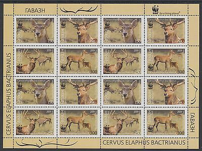 XG-BA516 TAJIKISTAN - Wwf, 2009 Wild Animals, Bactrian Deer MNH Sheet