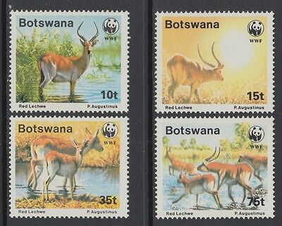 XG-BA594 BOTSWANA - Wwf, 1988 Wild Animals, Red Lechwe MNH Set