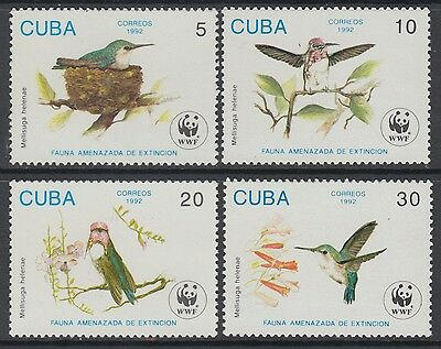 XG-BA641 HAVANA - Wwf, 1992 Birds, Hummingbird, Nature MNH Set