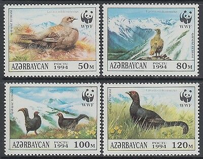 XG-BA673 AZERBAIJAN - Wwf, 1994 Wild Animals, Black Grouse MNH Set
