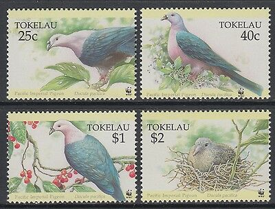 XG-BA684 TOKELAU ISLANDS - Wwf, 1995 Birds, Imperial Pigeon MNH Set