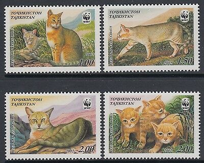 XG-BA771 TAJIKISTAN - Wwf, 2002 Wild Animals, Reed Cats MNH Set