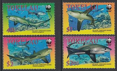 XG-BA775 TOKELAU ISLANDS - Wwf, 2002 Marine Life, Thresher MNH Set