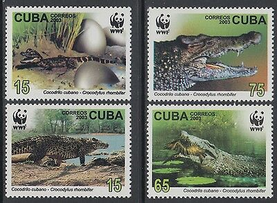 XG-BA789 HAVANA - Wwf, 2003 Wild Animals, Crocodiles MNH Set