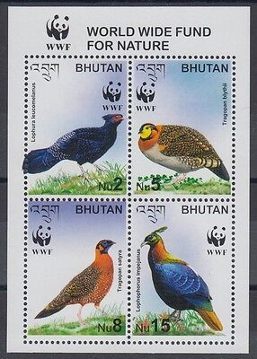 XG-BA795 BHUTAN - Wwf, 2003 Nature, Birds, Pheasant MNH Sheet