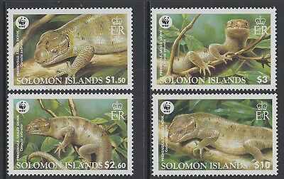 XG-BA832 SOLOMON ISLANDS IND - Wwf, 2005 Wild Animals, Skink, 4 Values MNH Set