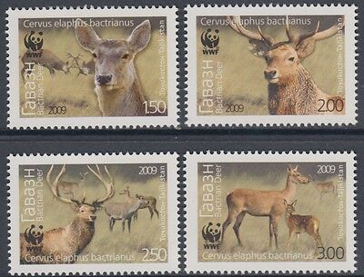XG-BA884 TAJIKISTAN - Wwf, 2009 Wild Animals, Bactrian Deer MNH Set