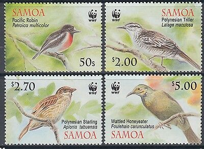 XG-BA885 SAMOA IND - Wwf, 2009 Birds, Nature, 4 Values MNH Set