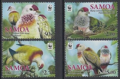 XG-BA919 SAMOA IND - Wwf, 2011 Nature, Birds, Fruit Dove MNH Set