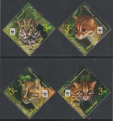 XG-BA930 THAILAND - Wwf, 2011 Small Cats, Wild Animals MNH Set