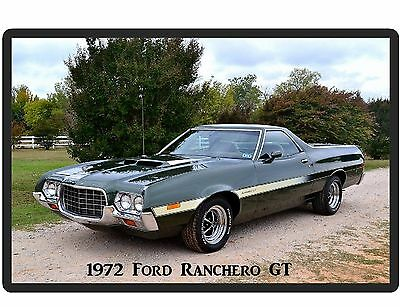 1972 Ford Ranchero GT Auto Refrigerator / Tool Box  Magnet Gift Card Insert