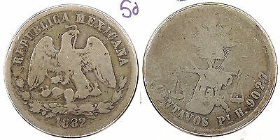 MEXICO: 1882-Pi H 50 Centavos Normal date #WC60919