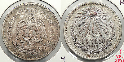 MEXICO: 1919-M 1 Peso #WC60241