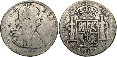 MEXICO: Carlos IIII 1804-Mo TH 8 Reales #WC70442