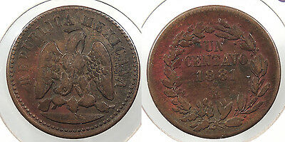 MEXICO: Hermosillo 1881-Ho Centavo #WC60779