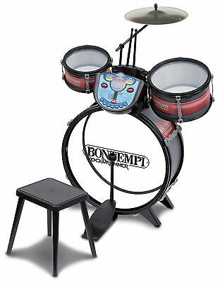 Kids Drum Kit with Electronic Rhythm Tutor and Stool - Kids Drum Set - Musical